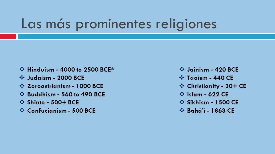 Las más prominentes religiones