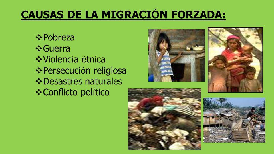 CAUSAS DE LA MIGRACIÓN FORZADA: