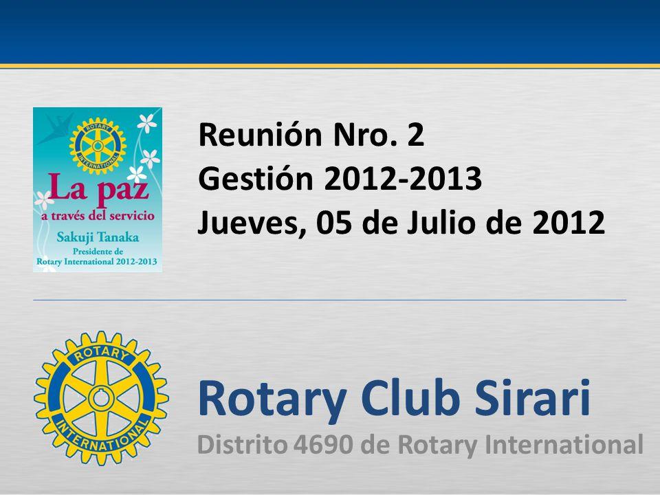 Reunión Nro. 2 Gestión 2012-2013 Jueves, 05 de Julio de 2012