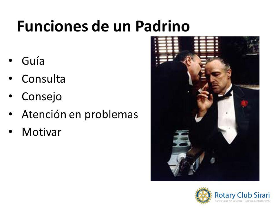Funciones de un Padrino