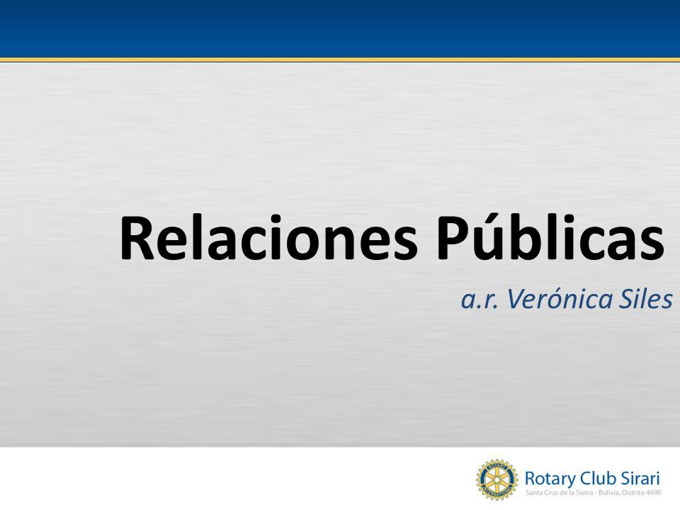 Relaciones Públicas a.r. Verónica Siles
