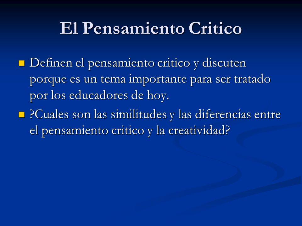 El Pensamiento Critico