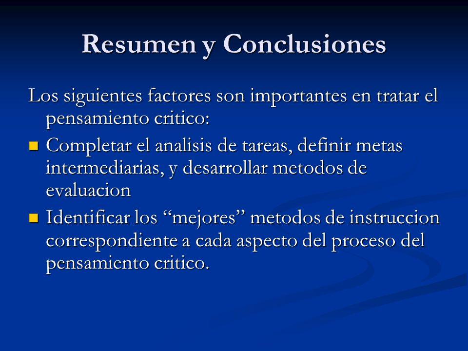 Resumen y Conclusiones