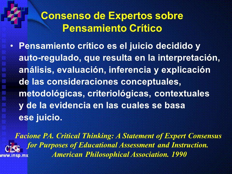 Consenso de Expertos sobre Pensamiento Crítico