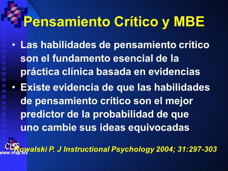 Pensamiento Crítico y MBE
