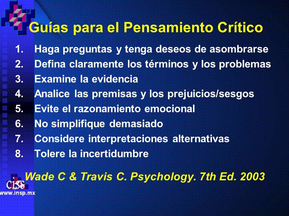 Guías para el Pensamiento Crítico