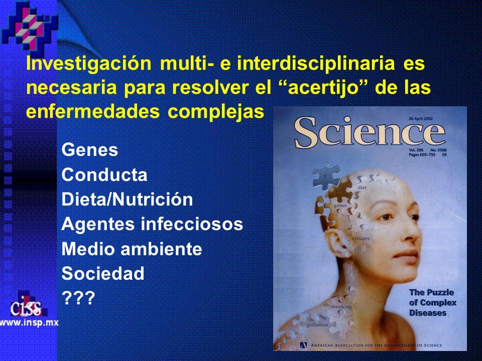 Investigación multi- e interdisciplinaria es necesaria para resolver el acertijo de las enfermedades complejas