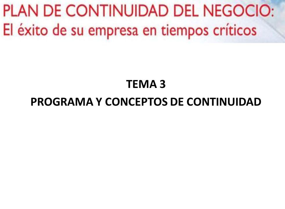 TEMA 3 PROGRAMA Y CONCEPTOS DE CONTINUIDAD