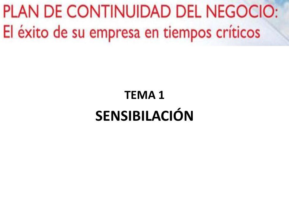 TEMA 1 SENSIBILACIÓN