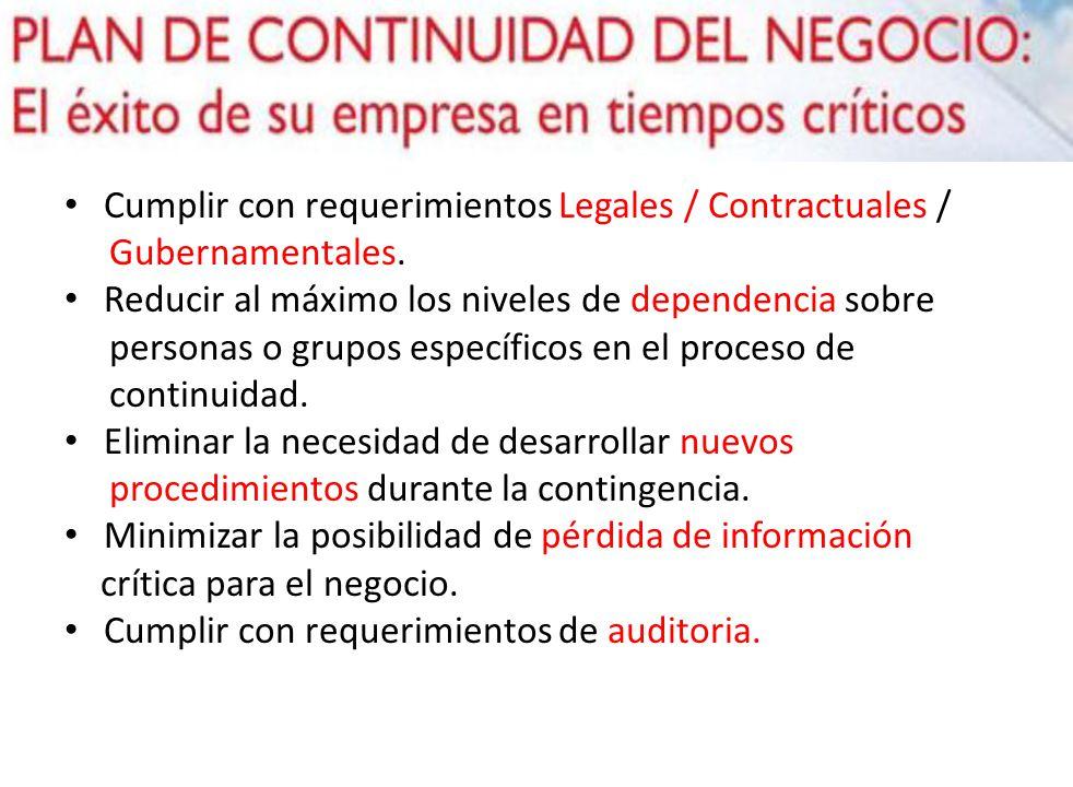 Cumplir con requerimientos Legales / Contractuales /