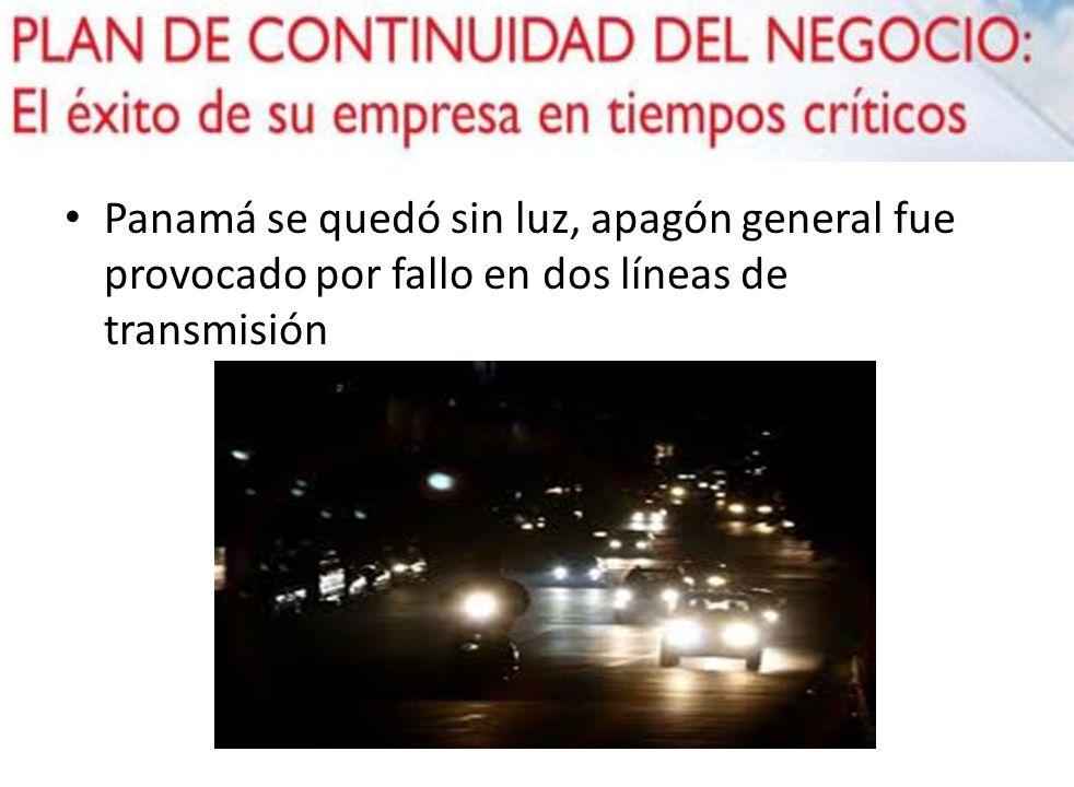 Panamá se quedó sin luz, apagón general fue provocado por fallo en dos líneas de transmisión