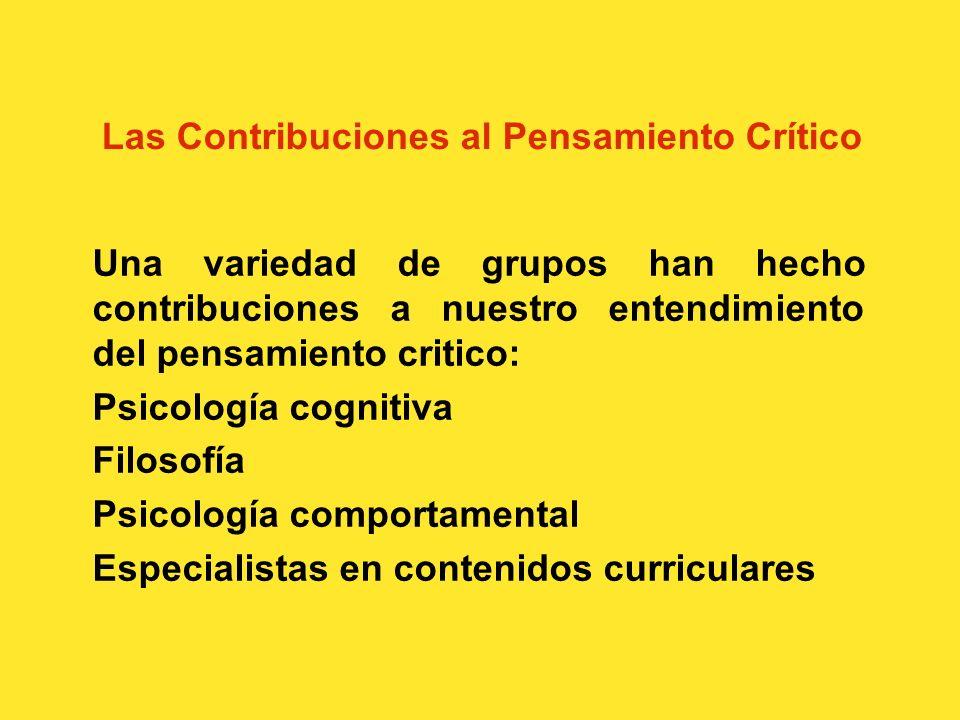 Las Contribuciones al Pensamiento Crítico