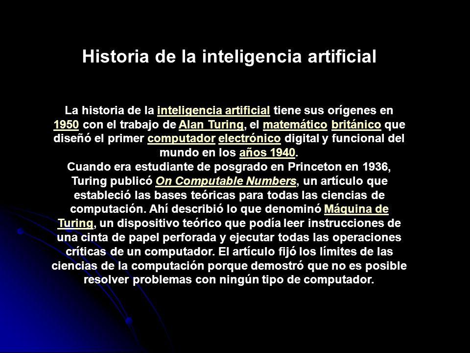 Historia de la inteligencia artificial