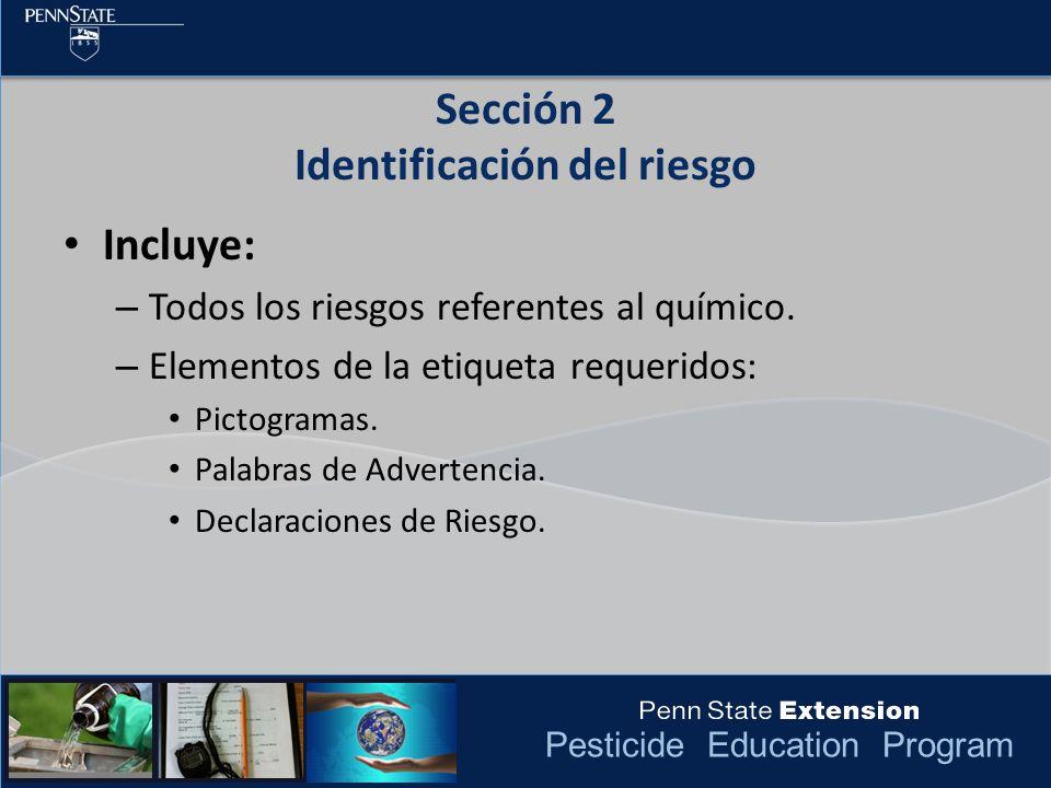 Sección 2 Identificación del riesgo