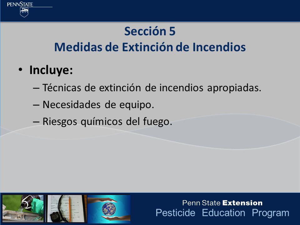 Sección 5 Medidas de Extinción de Incendios