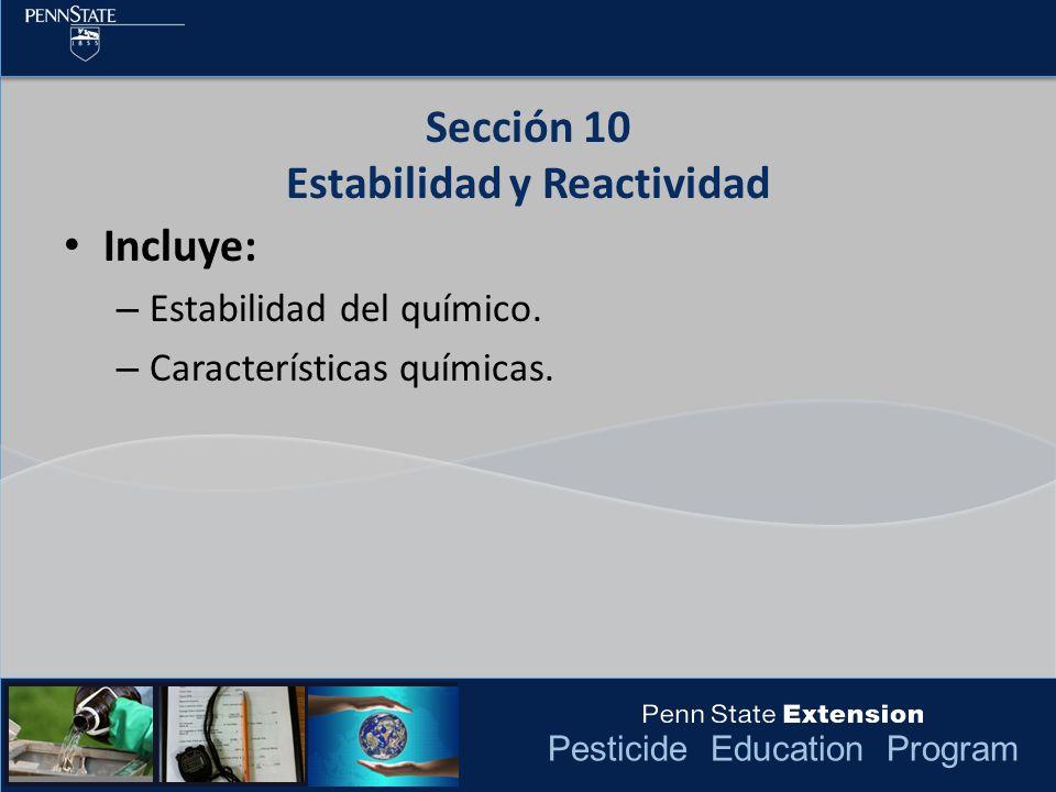 Sección 10 Estabilidad y Reactividad