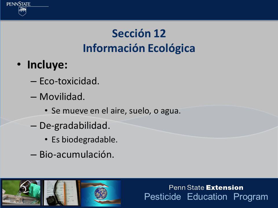 Sección 12 Información Ecológica