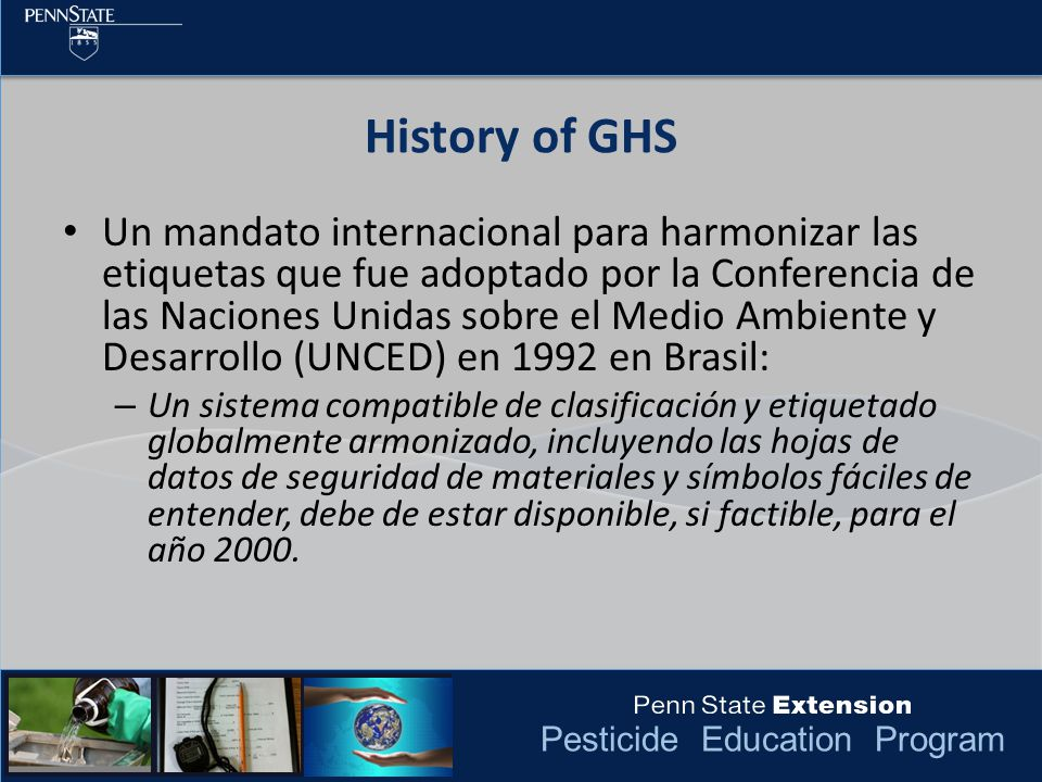 History of GHS