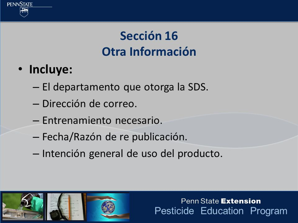 Sección 16 Otra Información