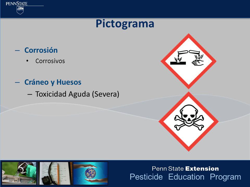 Pictograma Corrosión Cráneo y Huesos Toxicidad Aguda (Severa)
