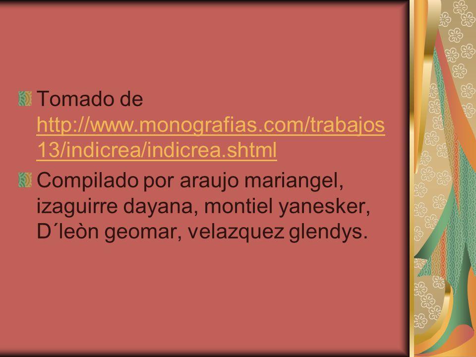 Tomado de http://www. monografias. com/trabajos13/indicrea/indicrea