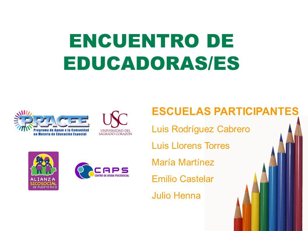 ENCUENTRO DE EDUCADORAS/ES