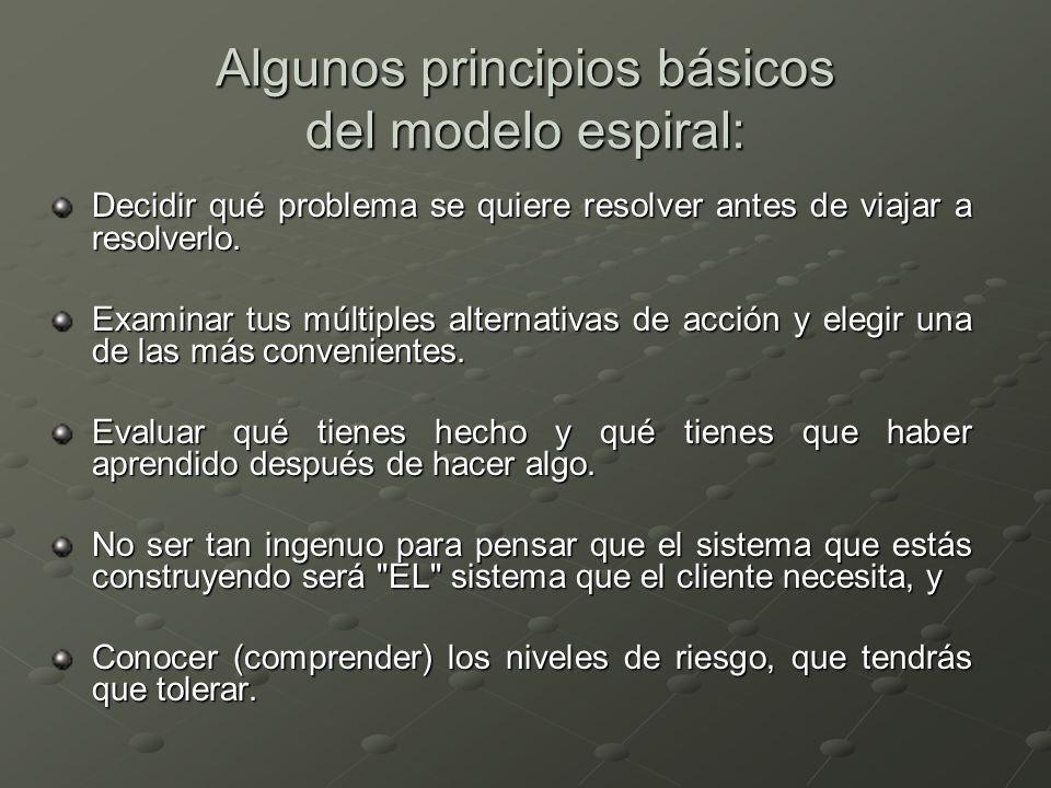 Algunos principios básicos del modelo espiral: