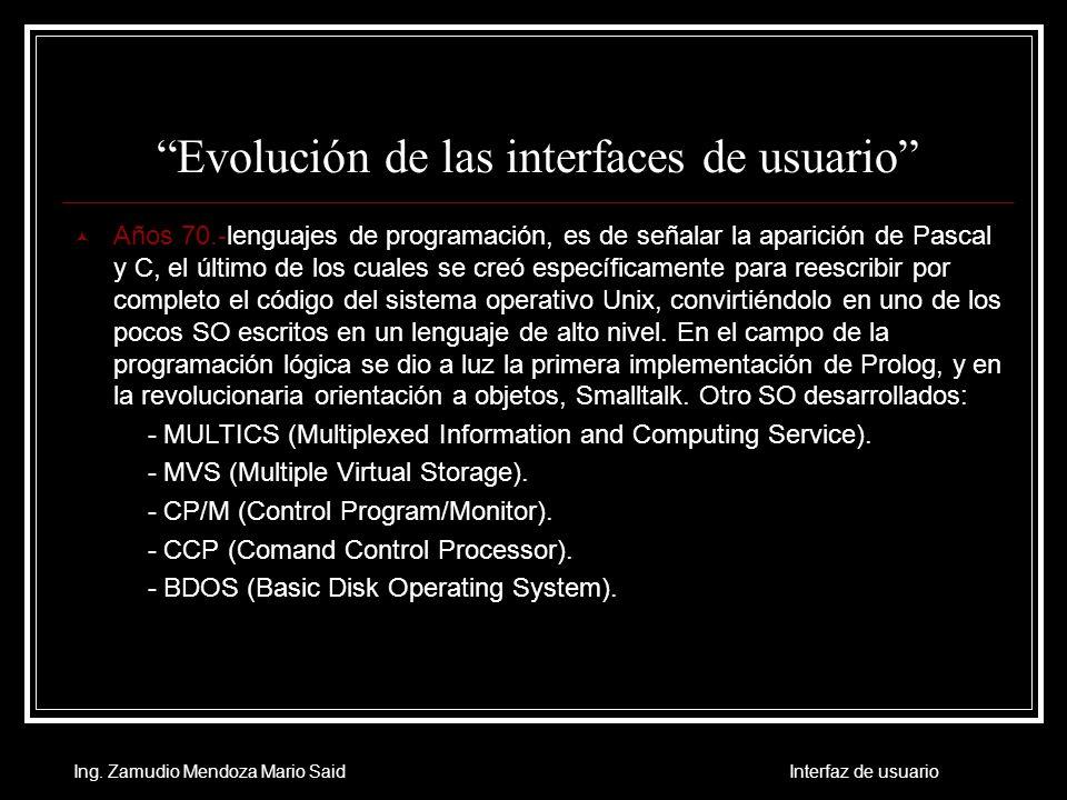 Evolución de las interfaces de usuario