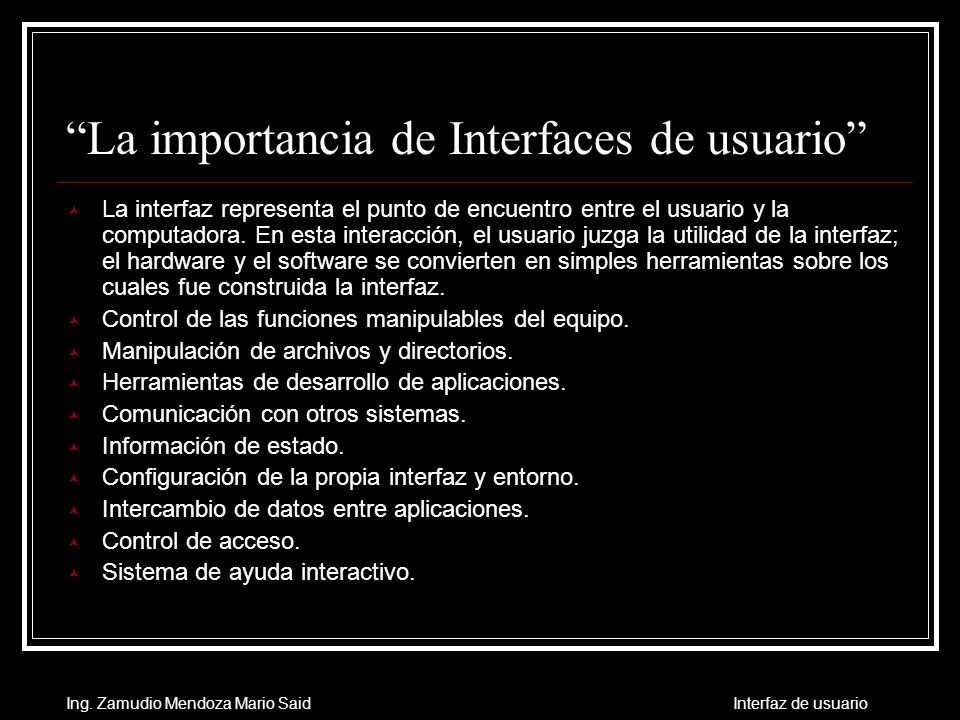 La importancia de Interfaces de usuario