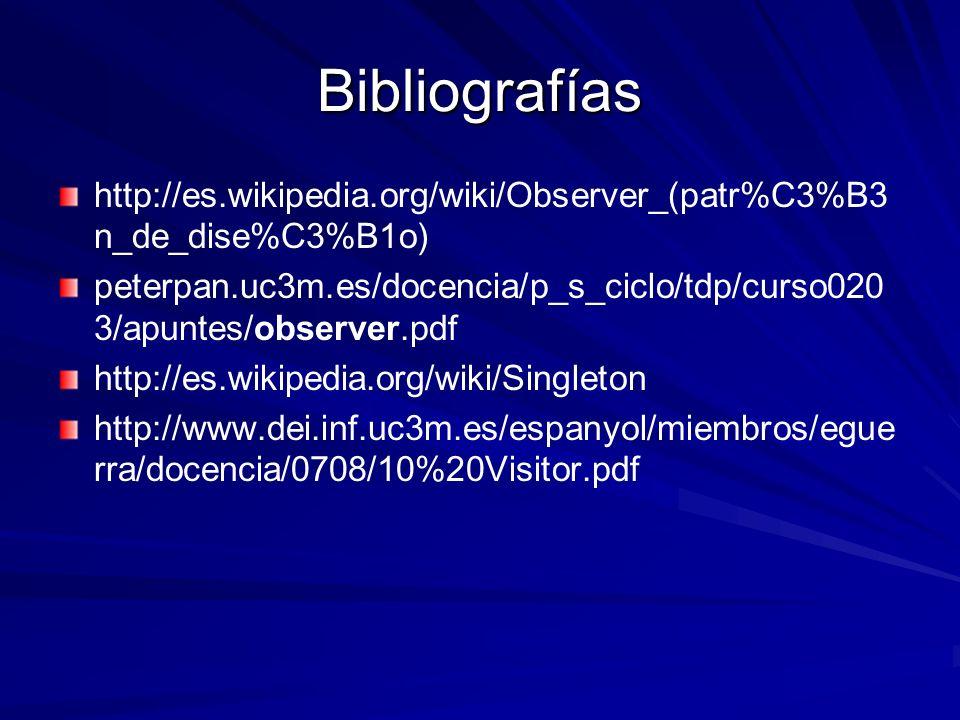 Bibliografías http://es.wikipedia.org/wiki/Observer_(patr%C3%B3n_de_dise%C3%B1o)
