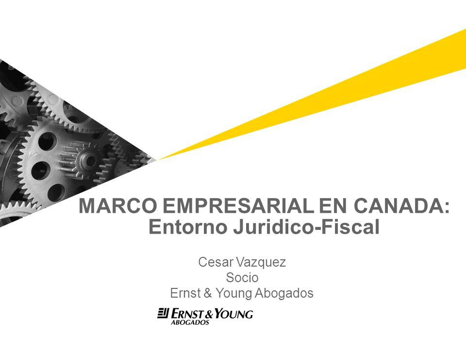 MARCO EMPRESARIAL EN CANADA: Entorno Juridico-Fiscal
