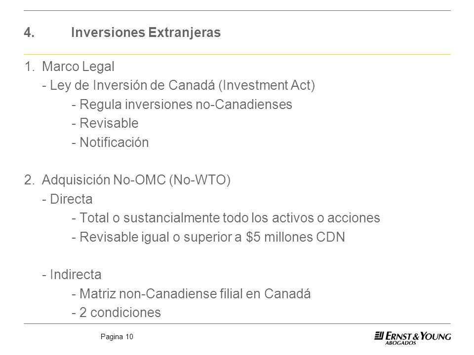 4. Inversiones Extranjeras