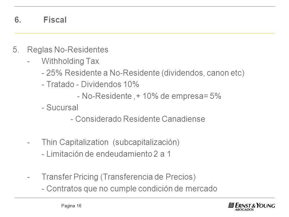 6. Fiscal