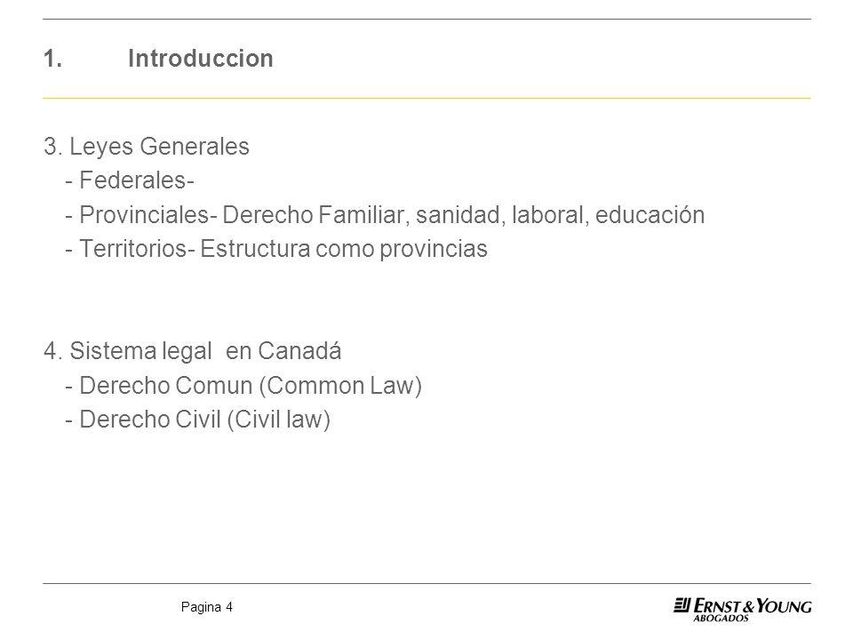 1. Introduccion 3. Leyes Generales. - Federales- - Provinciales- Derecho Familiar, sanidad, laboral, educación.