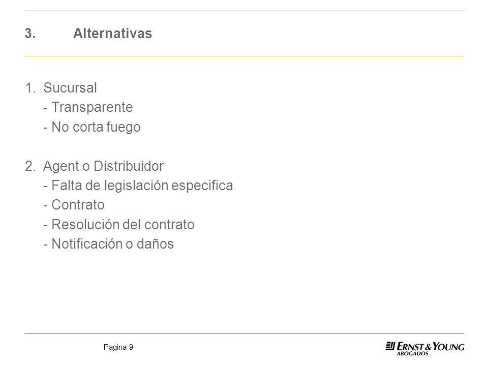 3. Alternativas
