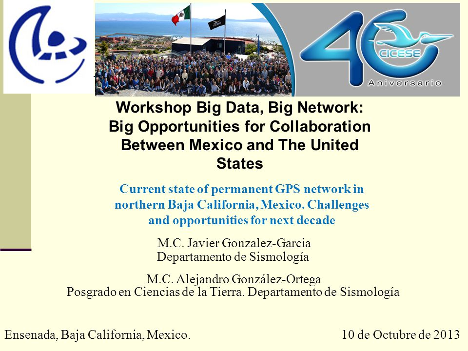 Workshop Big Data, Big Network: Big Opportunities for Collaboration Between Mexico and The United States