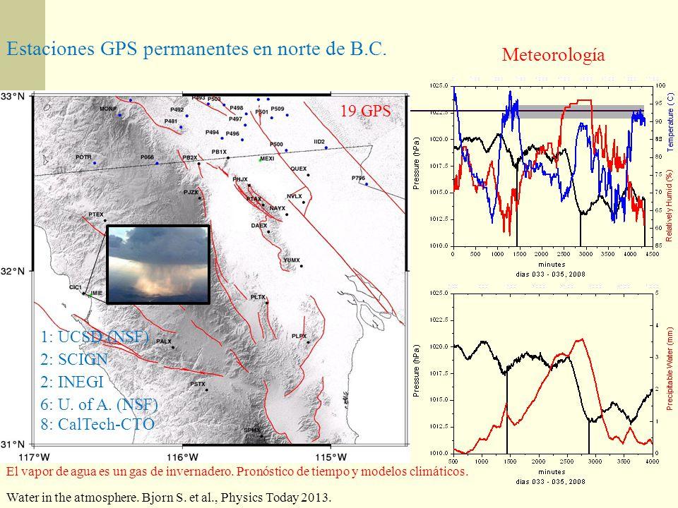 Estaciones GPS permanentes en norte de B.C.
