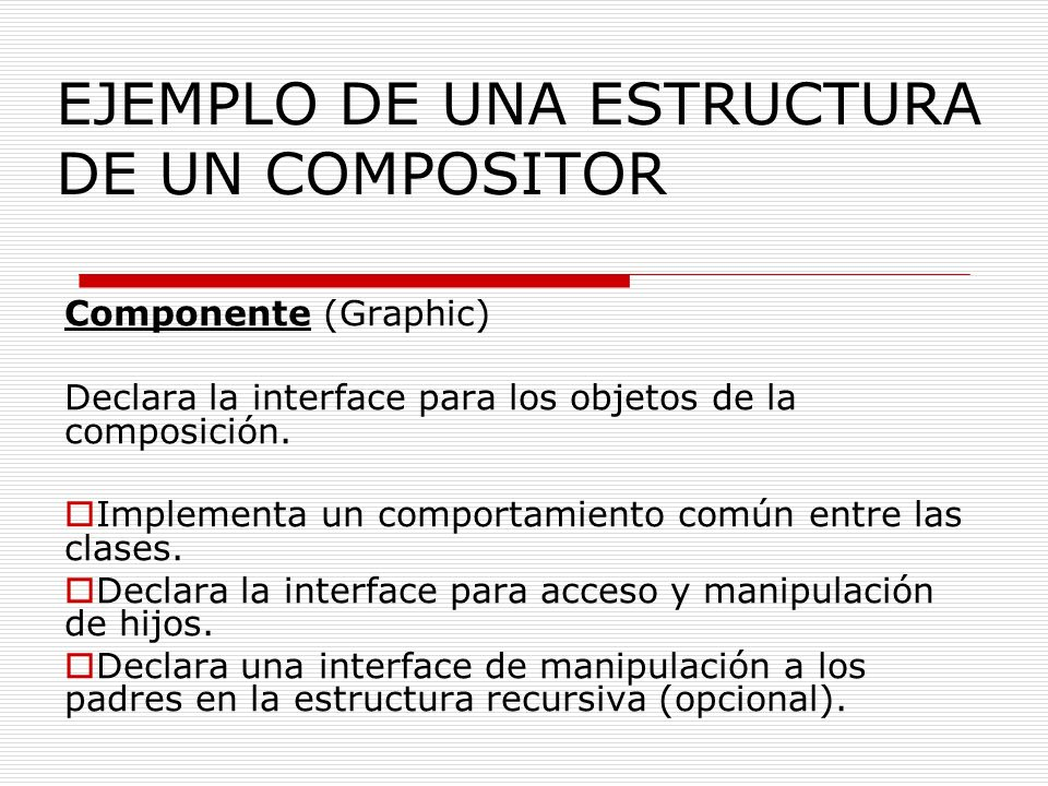 EJEMPLO DE UNA ESTRUCTURA DE UN COMPOSITOR