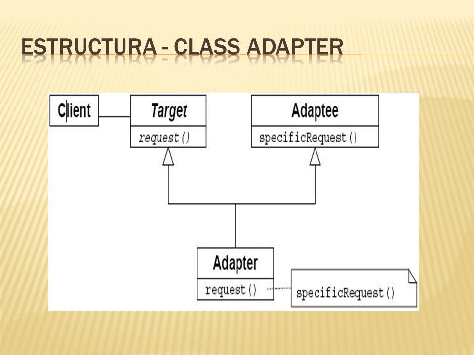 Estructura - class adapter