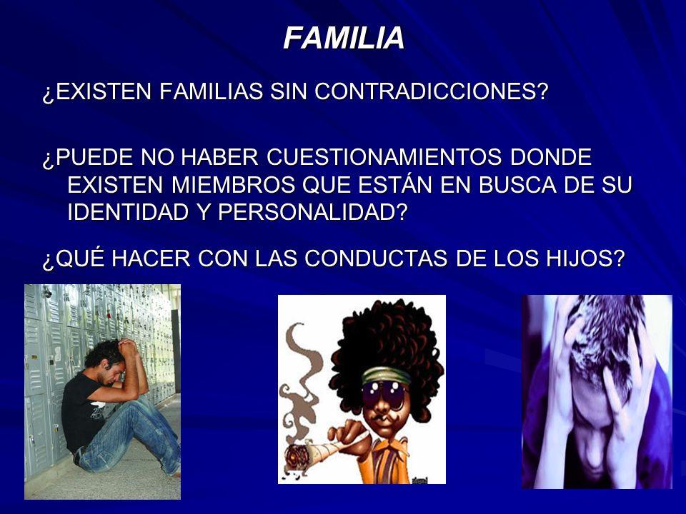 FAMILIA ¿EXISTEN FAMILIAS SIN CONTRADICCIONES