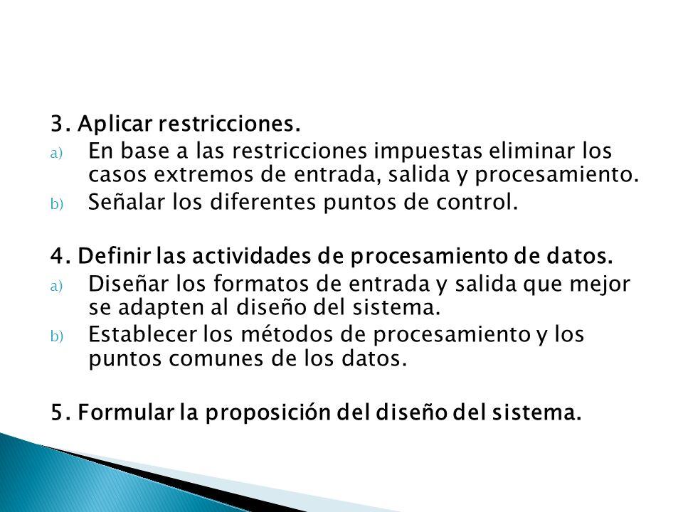 3. Aplicar restricciones.