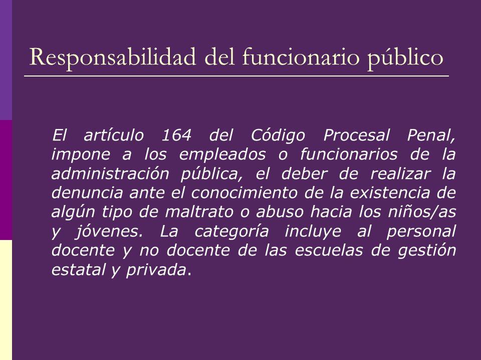 Responsabilidad del funcionario público