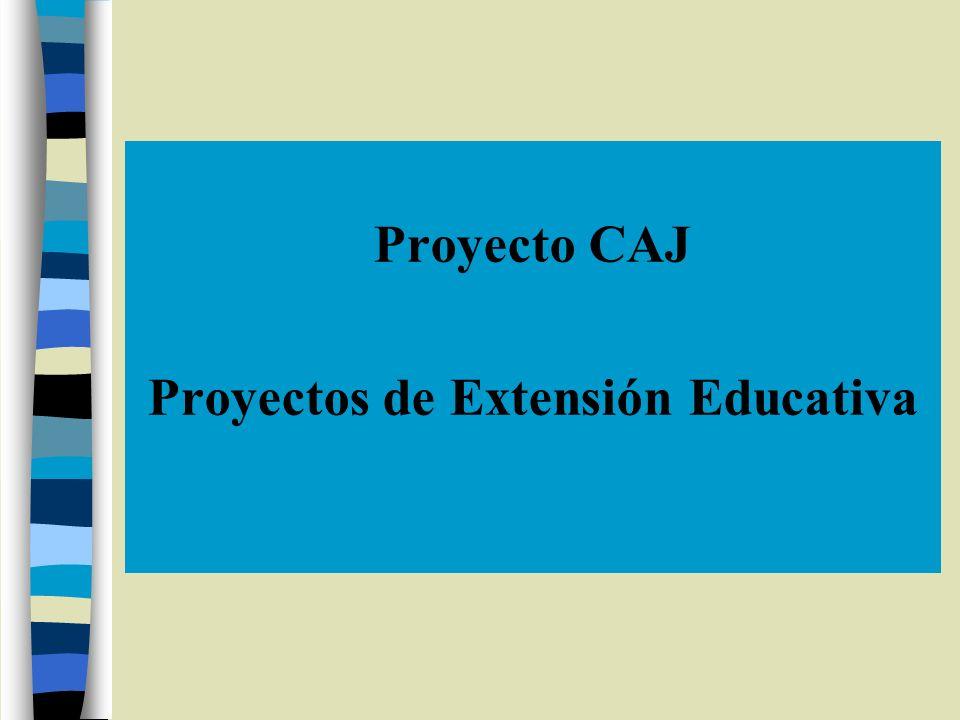 Proyectos de Extensión Educativa