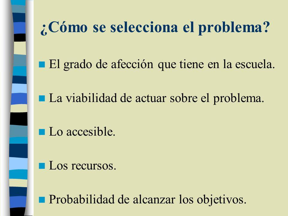 ¿Cómo se selecciona el problema