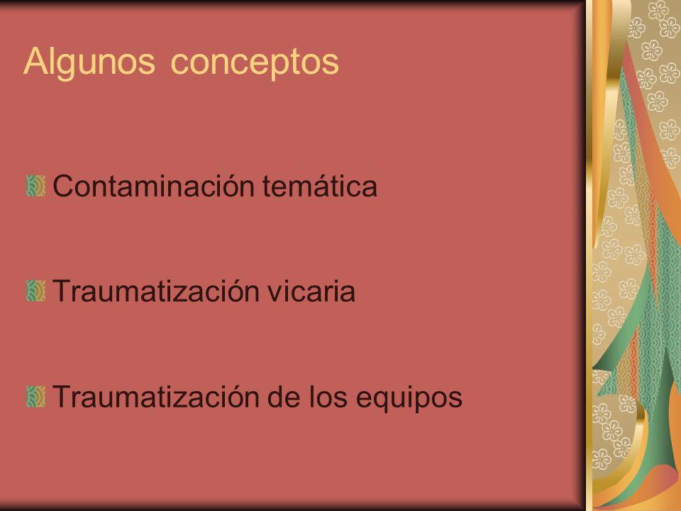 Algunos conceptos Contaminación temática Traumatización vicaria