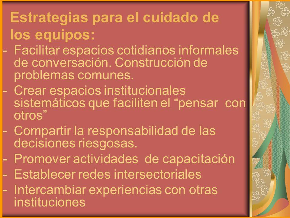 Estrategias para el cuidado de los equipos: