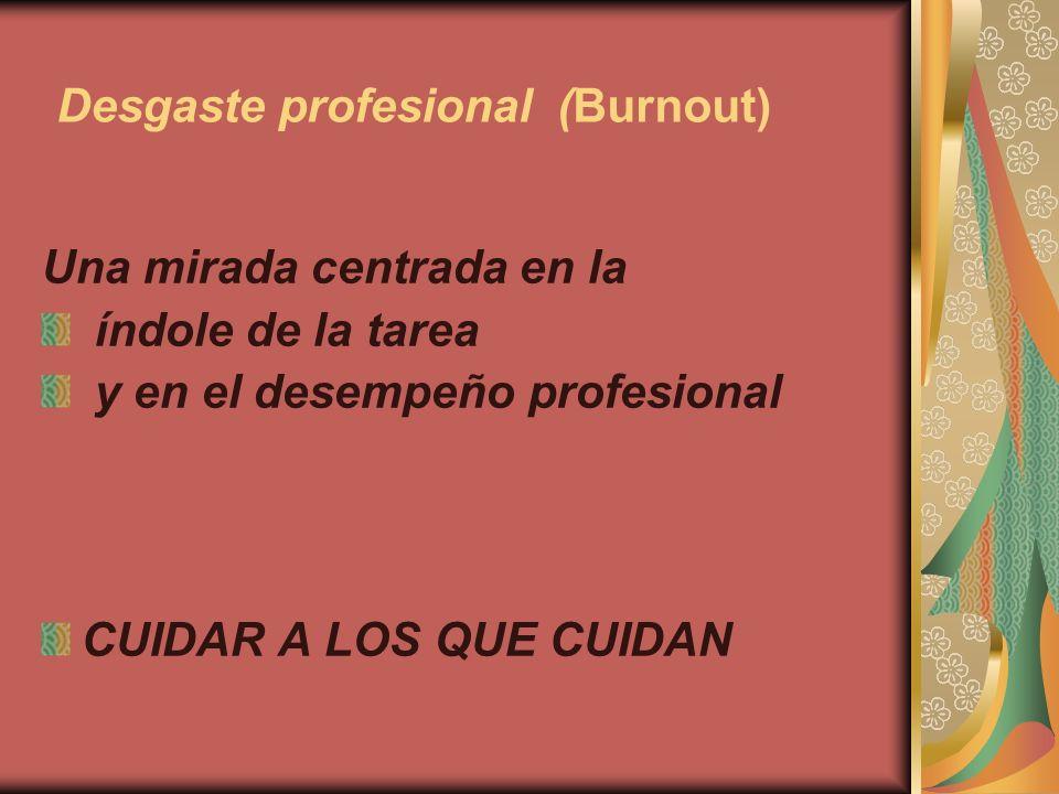 Desgaste profesional (Burnout)