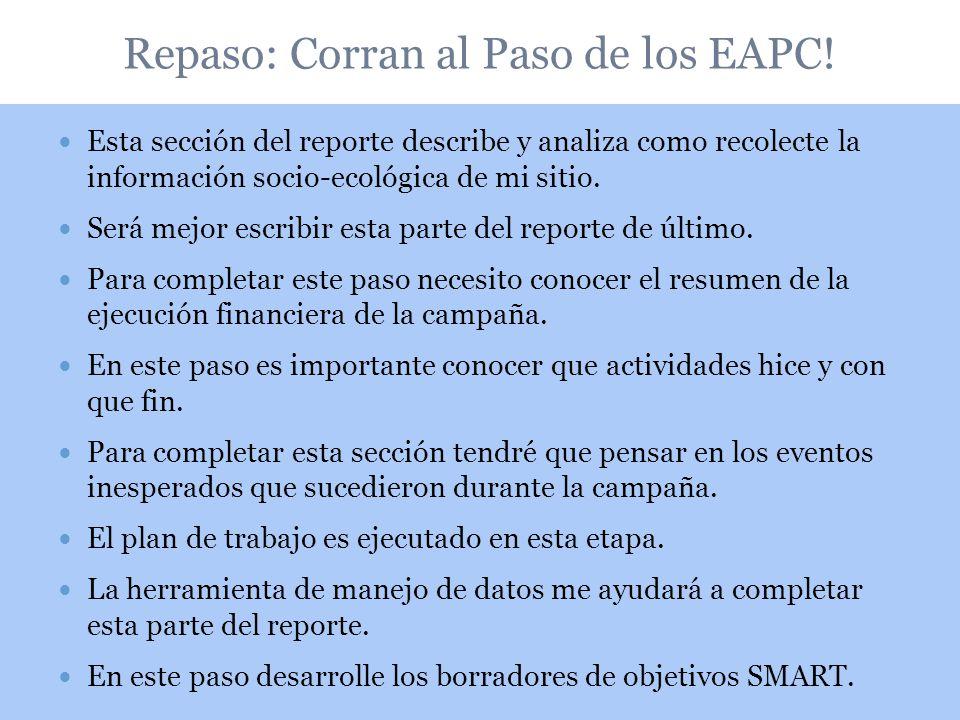 Repaso: Corran al Paso de los EAPC!