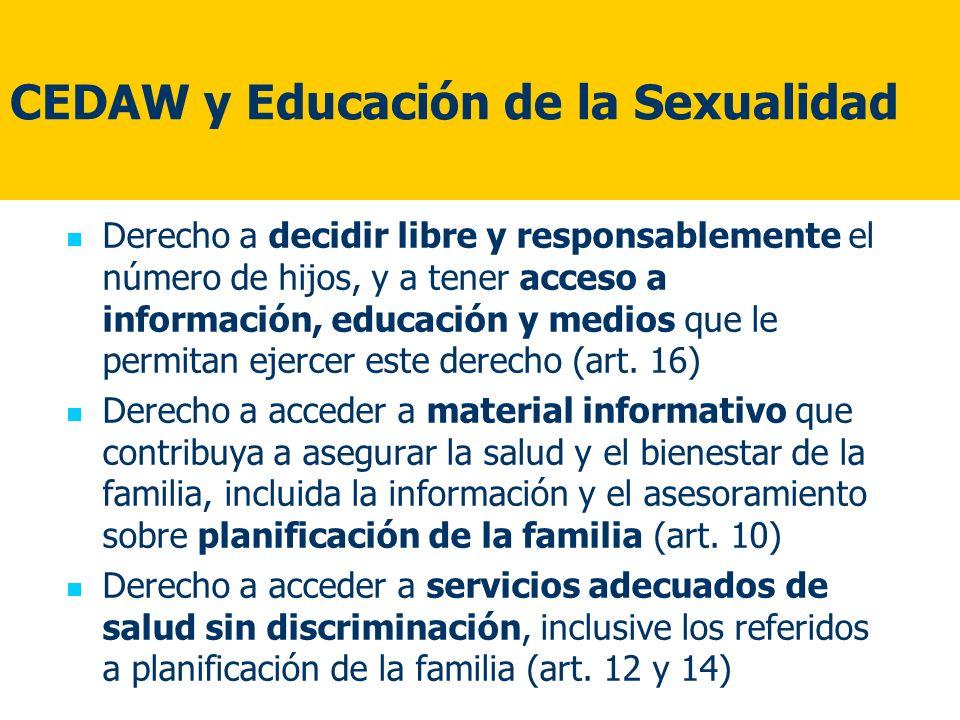 CEDAW y Educación de la Sexualidad