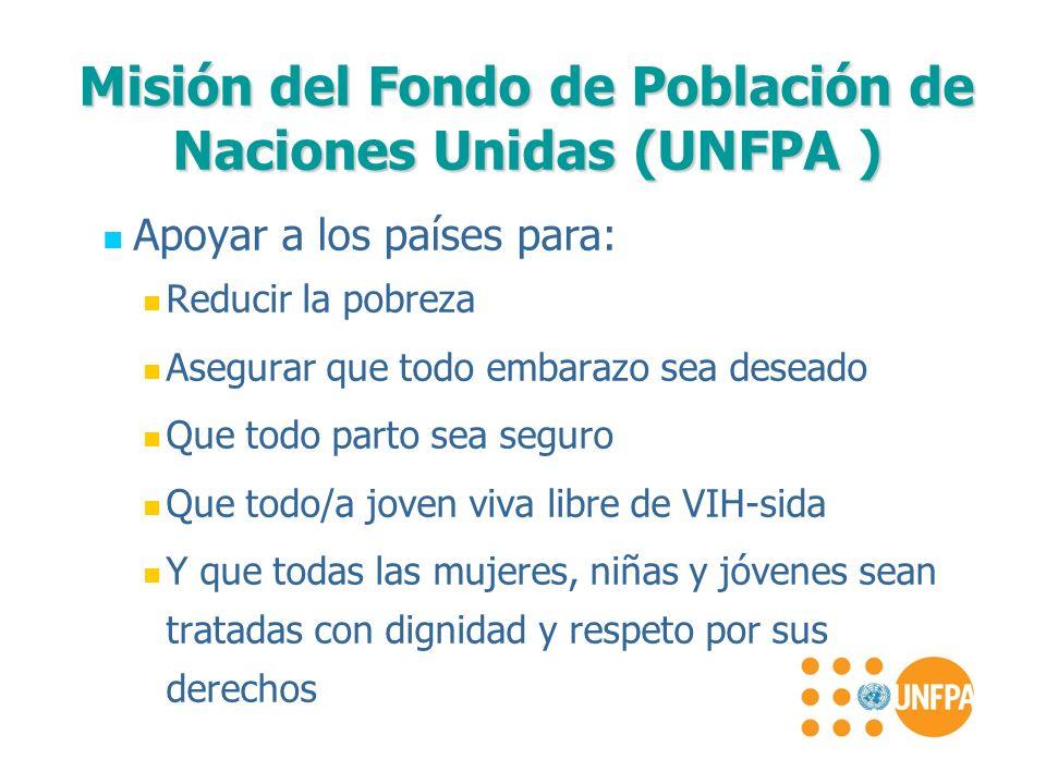 Misión del Fondo de Población de Naciones Unidas (UNFPA )